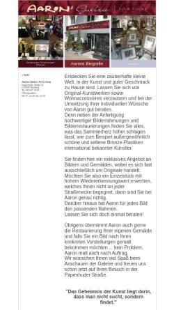 Vorschau der mobilen Webseite www.aarons-galerie.de, Aarons Galerie