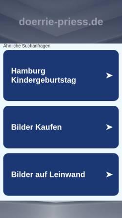 Vorschau der mobilen Webseite www.doerrie-priess.de, Dörrie Priess Galerie
