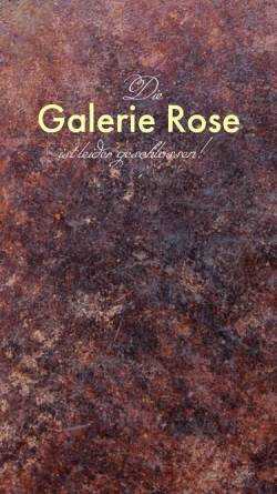 Vorschau der mobilen Webseite www.galerierose.com, Galerie Rose