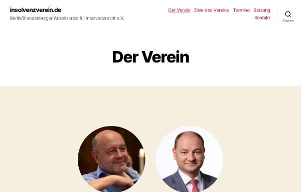 Vorschau von www.insolvenzverein.de, Berlin/Brandenburger Arbeitskreis für Insolvenzrecht e.V.