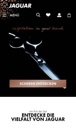 Vorschau der mobilen Webseite www.jaguar-solingen.com, Jaguar Stahlwarenfabrik GmbH & Co. KG
