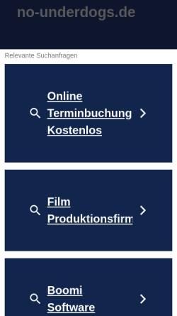 Vorschau der mobilen Webseite www.no-underdogs.de, No Underdogs