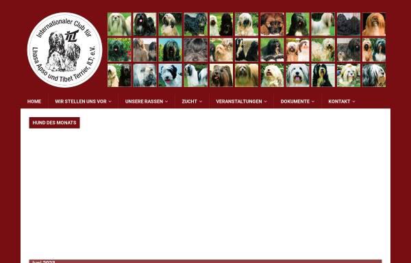 Vorschau von www.ilt-tibet.de, Internationaler Club für Lhasa Apso und Tibet Terrier e.V.