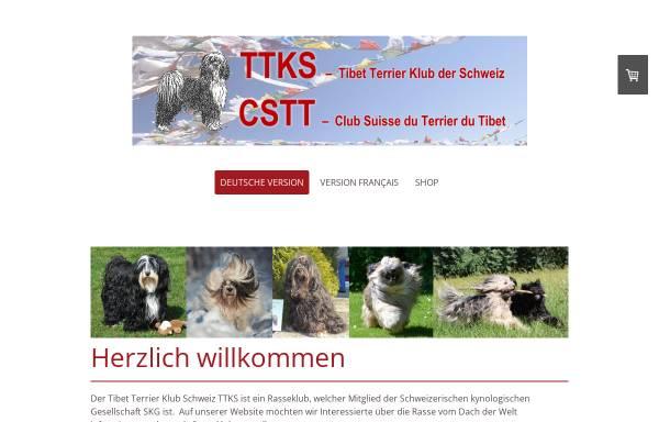 Vorschau von www.tibetterrier.ch, Tibet Terrier Klub der Schweiz