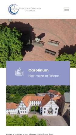 Vorschau der mobilen Webseite www.carolinum-osnabrueck.de, Gymnasium Carolinum