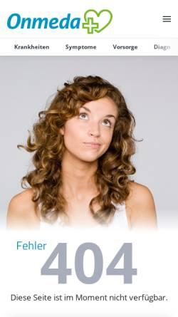 Vorschau der mobilen Webseite www.onmeda.de, Psychische Störungen - Onmeda