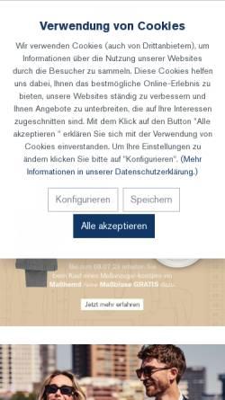 Vorschau der mobilen Webseite www.kuhn-kleidung.de, Alois Kuhn Kleiderfabrik