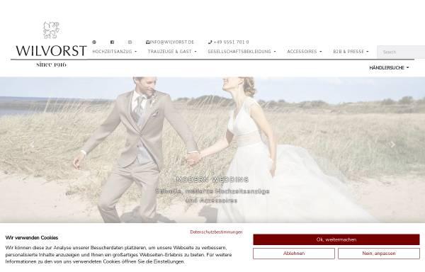 Vorschau von www.wilvorst.de, Wilvorst Herrenmoden GmbH