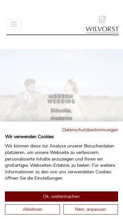 Vorschau der mobilen Webseite www.wilvorst.de, Wilvorst Herrenmoden GmbH