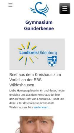 Vorschau der mobilen Webseite www.gymnasium-ganderkesee.de, Gymnasium Ganderkesee