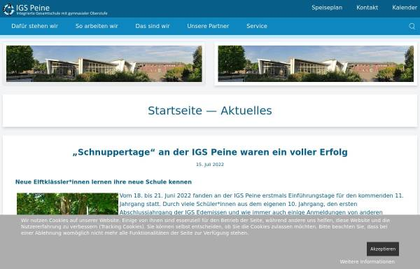 Vorschau von www.igspeine.de, Integrierte Gesamtschule Peine