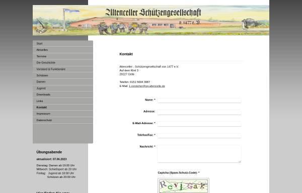 Vorschau von www.sg-altencelle.de, Altenceller Schützengesellschaft von 1477 e.V.