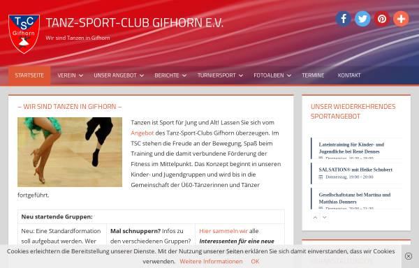 Vorschau von www.tsc-gifhorn.de, Tanzsportclub Gifhorn e.V.