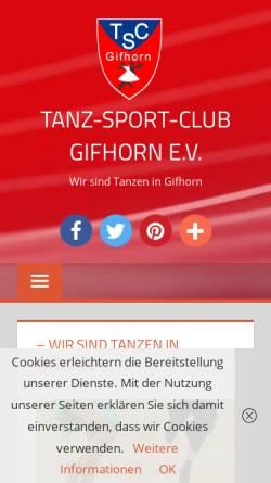 Vorschau der mobilen Webseite www.tsc-gifhorn.de, Tanzsportclub Gifhorn e.V.