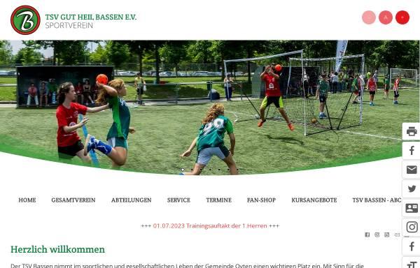 Vorschau von www.tsvbassen.de, TSV