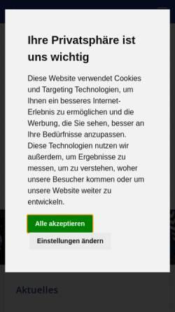 Vorschau der mobilen Webseite www.hsg-sn.de, HSG Schwanewede/Neuenkirchen
