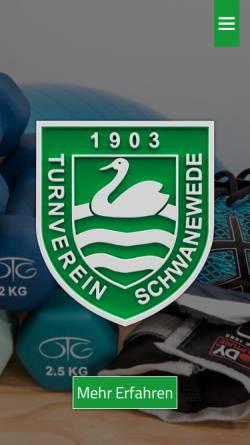 Vorschau der mobilen Webseite www.tv-schwanewede.de, Turnverein Schwanewede von 1903 e.V.