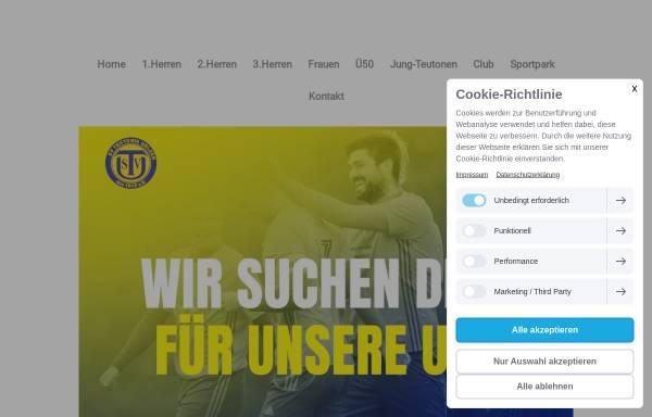 Vorschau von teutonia-uelzen.de, SV Teutonia Uelzen von 1912 e.V.
