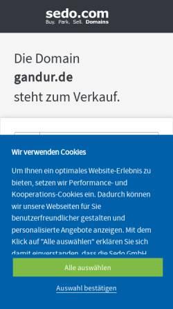 Vorschau der mobilen Webseite www.gandur.de, Gandur e.V.