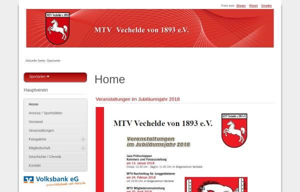 Vorschau von www.mtv-vechelade.de, MTV Vechelade von 1919 e.V.