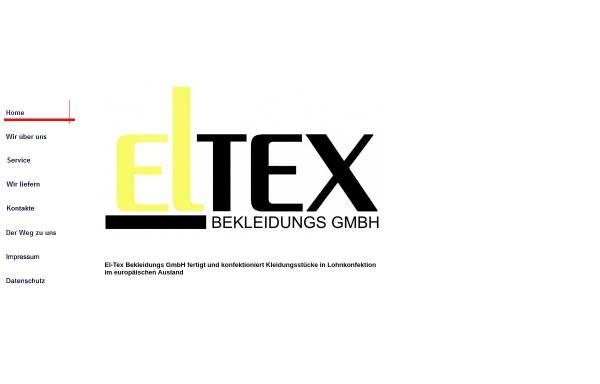 Vorschau von www.el-tex-bekleidung.de, El-Tex Bekleidungs GmbH