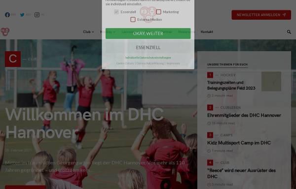 Vorschau von www.dhc-hannover.de, Deutscher Hockey Club Hannover e.V.