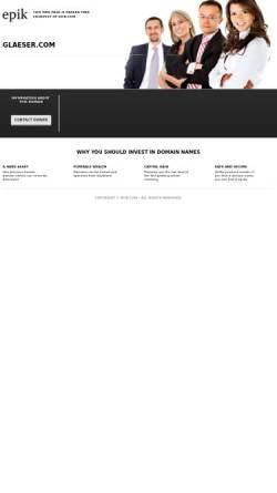 Vorschau der mobilen Webseite www.glaeser.com, Gläser - Miroglio Deutschland GmbH