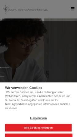 Vorschau der mobilen Webseite www.computer-corner-digital.de, Computer-corner Frank Rauch