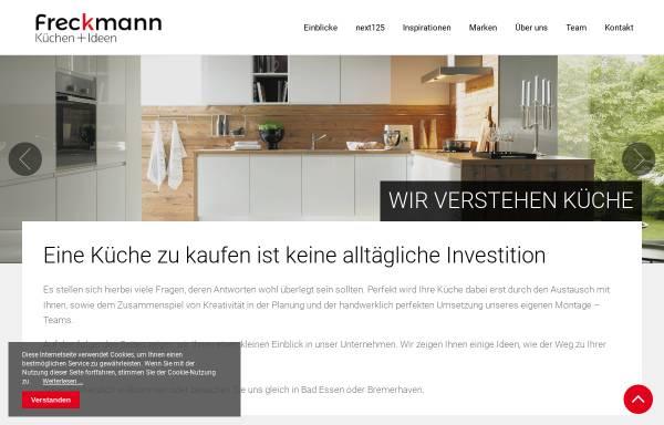 Vorschau von www.kuechen-freckmann.de, Küchen Freckmann