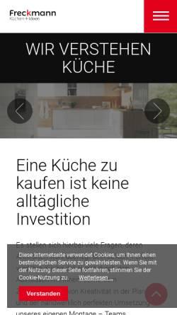 Vorschau der mobilen Webseite www.kuechen-freckmann.de, Küchen Freckmann