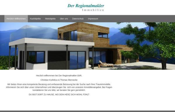 Vorschau von www.der-regionalmakler.de, Der Regionalmakler - Immobilienmakler
