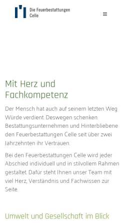Vorschau der mobilen Webseite www.fbcelle.de, Feuerbestattungen Celle r. V.