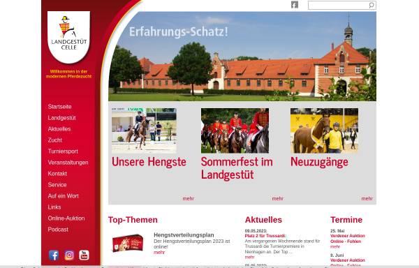 Vorschau von landgestuetcelle.de, Niedersächsisches Landgestüt Celle