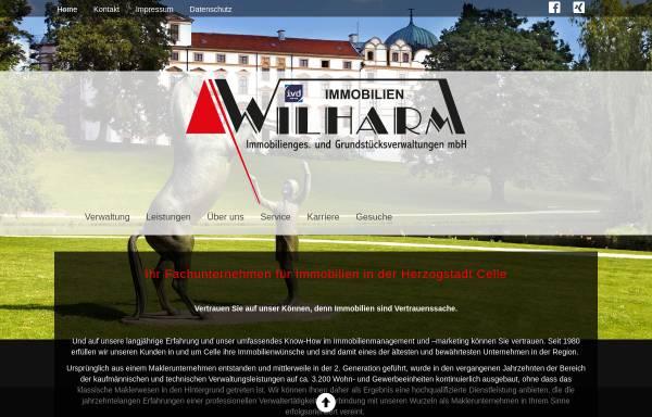 Vorschau von www.wilharm.de, Wilharm Immobiliengesellschaft und Grundstücksverwaltungen mbH