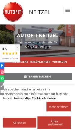 Vorschau der mobilen Webseite www.autofit-neitzel.de, AUTOFIT Neitzel