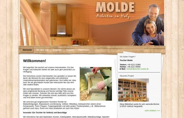 Vorschau von www.tischler-molde.de, Tischlerei Molde
