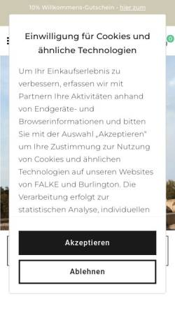 Vorschau der mobilen Webseite www.falke.com, Falke KG