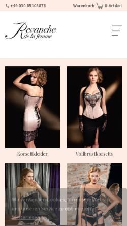 Vorschau der mobilen Webseite www.rdlf.de, Revanche de la femme