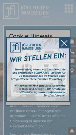 Vorschau der mobilen Webseite www.folten.de, Folten Immobilien