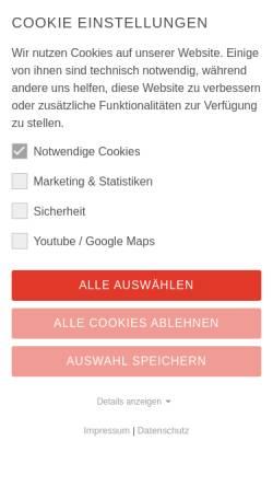 Vorschau der mobilen Webseite www.ruwac.de, Ruwac Industriesauger GmbH