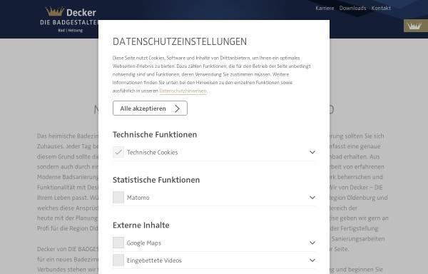 Vorschau von www.f-decker.de, Friedrich Decker GmbH