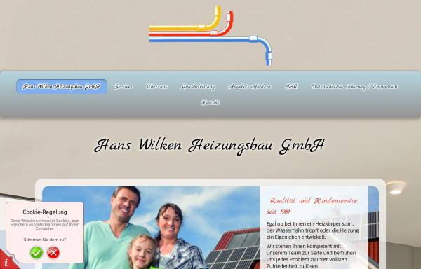 Vorschau von www.wilken-heizungsbau.de, Hans Wilken Heizungsbau GmbH