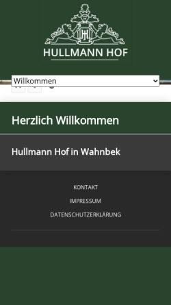 Vorschau der mobilen Webseite www.hullmann-hof.de, Hullmann Hof