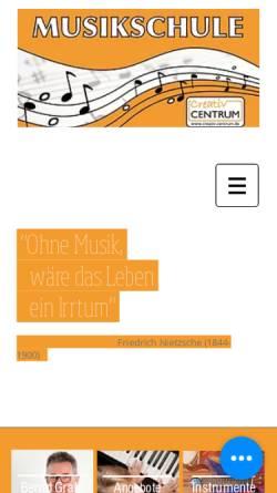 Vorschau der mobilen Webseite www.creativ-centrum.de, Musikschule im Rasteder Creativ Centrum
