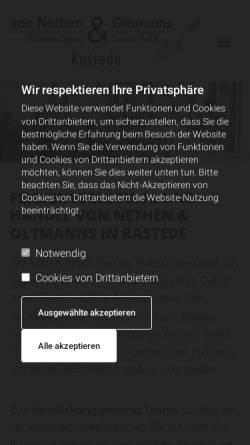 Vorschau der mobilen Webseite www.fliesen4u.de, Von Nethen & Oltmanns Fliesenverlegungs- und Handels-GmbH