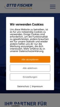Vorschau der mobilen Webseite www.ottofischer-spedition.de, Otto Fischer Spedition GmbH