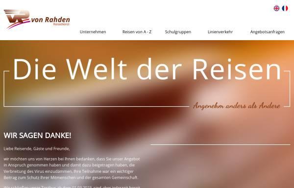 Vorschau von www.von-rahden.de, Reisedienst von Rahden GmbH & Co. KG