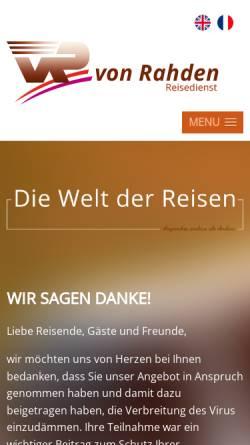 Vorschau der mobilen Webseite www.von-rahden.de, Reisedienst von Rahden GmbH & Co. KG
