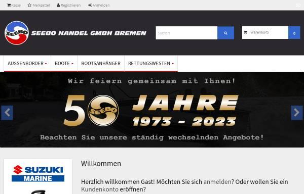 Vorschau von www.seebo-bremen.de, Seebo Handel GmbH