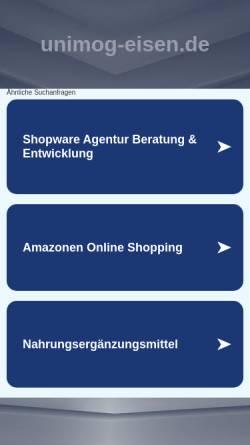 Vorschau der mobilen Webseite www.unimog-eisen.de, Willi Eisen GmbH